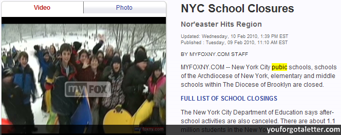 NYC (Pubic) School Closures
