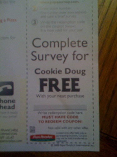 Coupon typo on Flickr by jesman