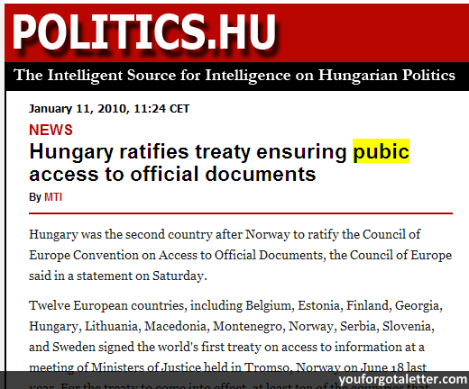 Hungary ratifies treaty ensuring pubic access to official documents