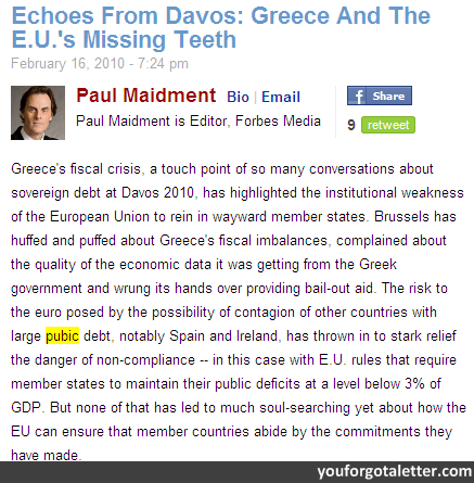 Greece And The E.U.'s Missing Teeth