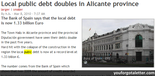 Local public debt doubles in Alicante province