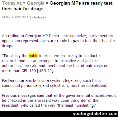 Georgian MPs are ready test their hair for drugs