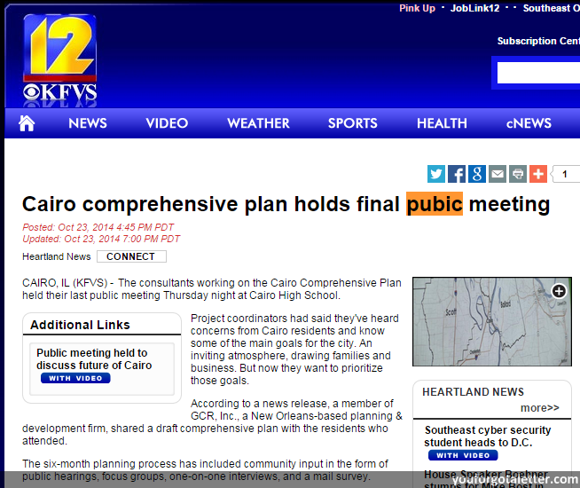 KFVS12 News - Cairo comprehensive plan holds final pubic meeting